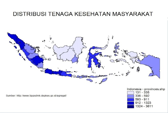 distribusi tenaga kesmas di indonesia